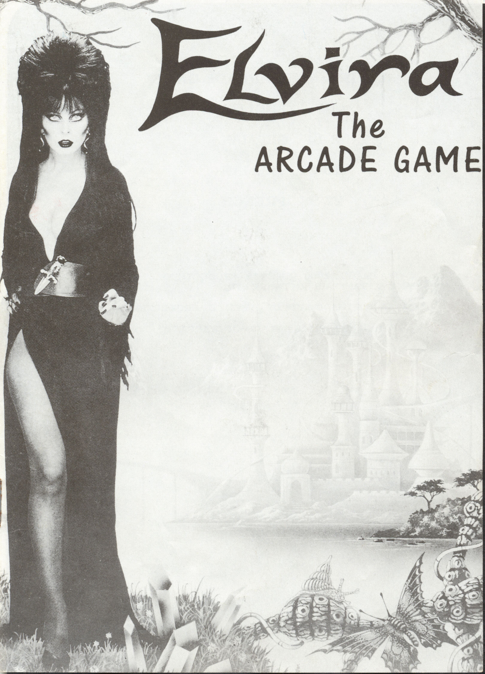 GameBox 64 Instructions Scans for Elvira: The Arcade Game by Flair