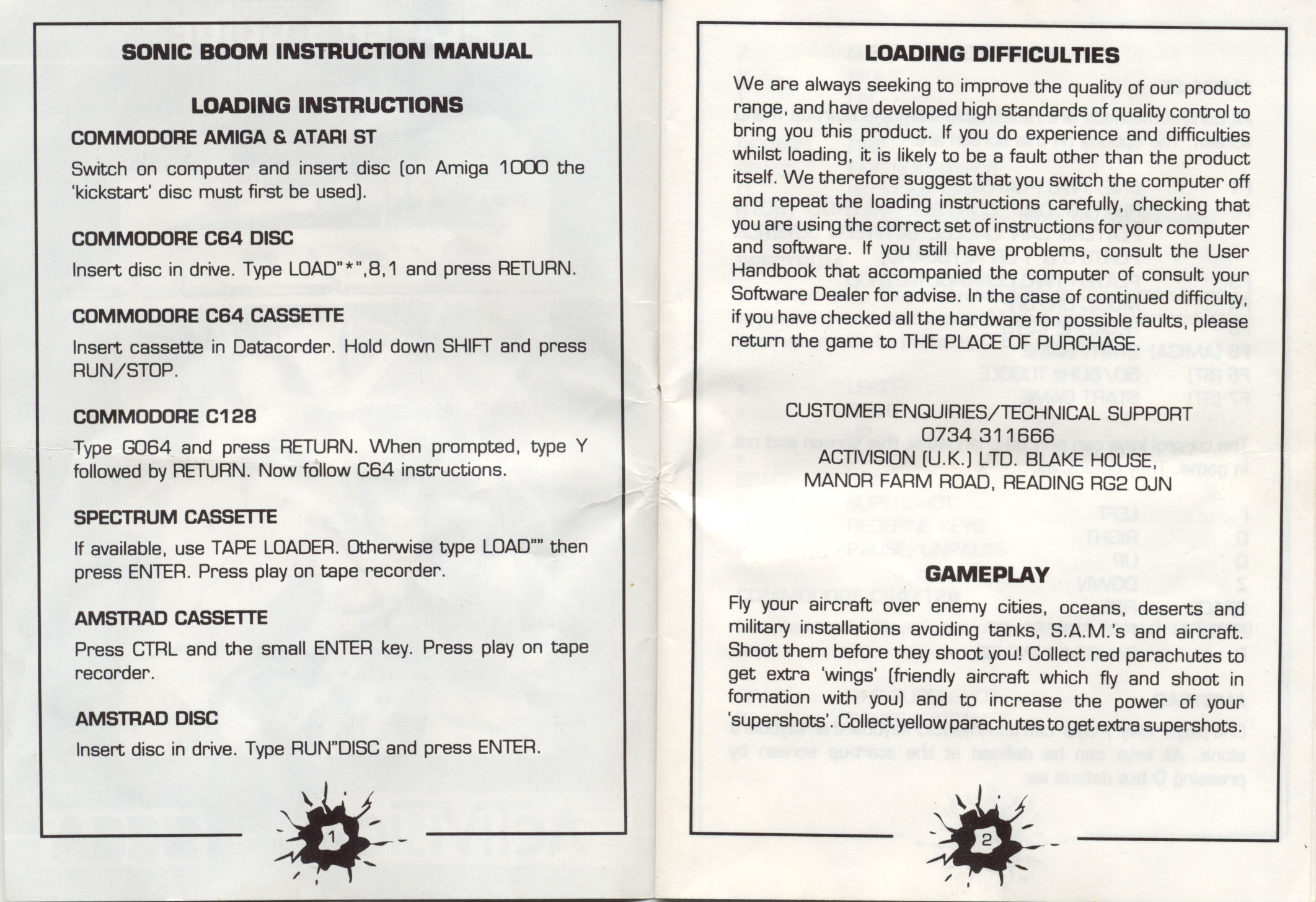 GameBox 64 Instructions Scans for Sonic Boom by Activision